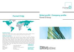 Şirket profili / Company profile Formel D Group Formel D Ağı