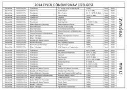 CUMA PERŞEMBE - Zonguldak Anadolu Teknik Lisesi ve EML
