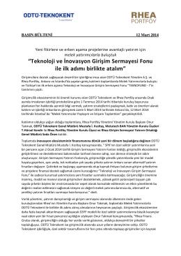 12 Mart 2014 - Basın Bülteni