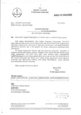Ek-1 - mut ilçe millî eğitim müdürlüğü