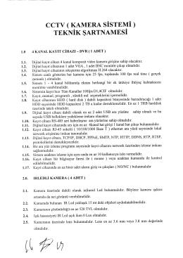 CCTV ( KAMERA SISTEMI ) TEKNIK SARTNAMESI 1.0 4 KANAL