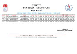 türkiye buz hokeyi federasyonu başkanlığı