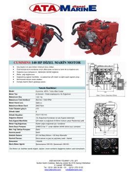 cummıns 140 hp dizel marin motor - AtaMarinE Dizel Deniz Motorlari