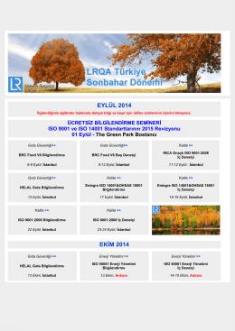 Eylül / Ekim / Kasım Sonbahar Dönemi Eğitim Programı (pdf, 397kb)