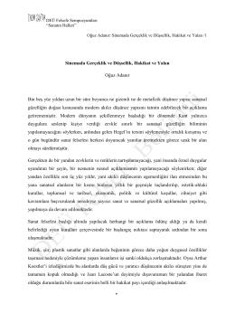 Prof. Dr. Oğuz Adanır: Sanat Felsefesi