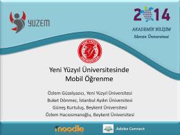 Mobil Öğrenme - Akademik Bilişim Konferansları