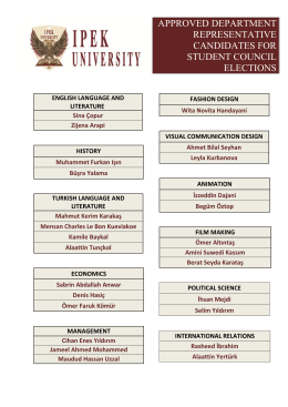 approved department representatıve candıdates for student councıl