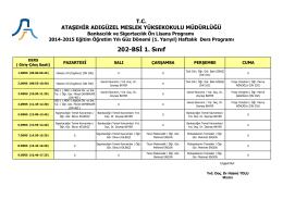 202-BSİ 1. Sınıf - Ataşehir Adıgüzel Meslek Yüksekokulu