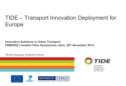 TIDE – Transport Innovation Deployment for Europe