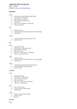 Akdeniz Diyeti Listesi .PDF