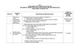 Bölge Trafik Denetleme Şube Müdürlüğü Kamu Hizmet Standartları