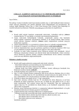 24.12.2014 coralan - kardiyovasküler olay ve ciddi bradikardi riskini