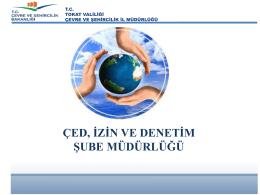 Şube Müdürlüğü Faaliyetleri - Çevre ve Şehircilik Bakanlığı