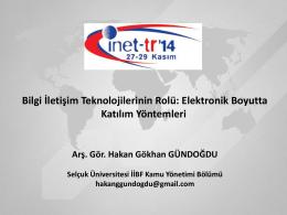 E-Katılımın Araçları - Inet-tr