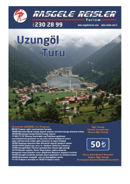 Günübirlik UZUNGÖL Tur Programı