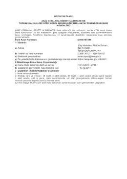 İhale Kayıt Numarası :2014/167394 1