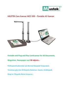 MUSTEK Cam Scanner MCS 500 – Portable A3 Scanner