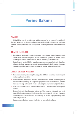 19. Perine Bakımı - İzmir Güney Kamu Hastaneleri Birliği Genel