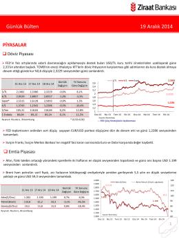 19 Aralık 2014 tarihli piyasa yorumu