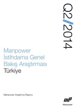Manpower İstihdama Genel Bakış Araştırması Türkiye