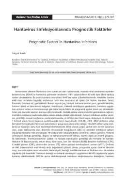 Hantavirus Enfeksiyonlarında Prognostik Faktörler
