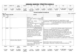 22 ocak 2014 tarihinde yapılan yönetim kurulu