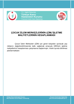 çocuk izlem merkezlerinin (çim) - Türkiye Kamu Hastaneleri Kurumu