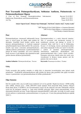 Post Travmatik Pnömoperikardiyum, Subkutan