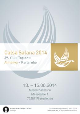 Calsa Salana 2014 - Ahmadiyya Muslim Jamaat Deutschland