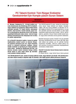 PC Tabanlı Kontrol: Tüm Rüzgar Endüstrisi Gereksinimleri İçin
