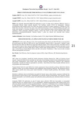 İMKB 100 İMALAT SANAYİ - Türk Dili Bölümü