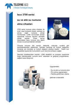 Isco 3700 serisi su ve atık su numune alma cihazları