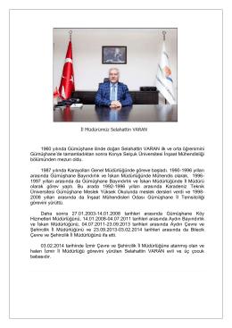 İl Müdürümüz - Çevre ve Şehircilik Bakanlığı