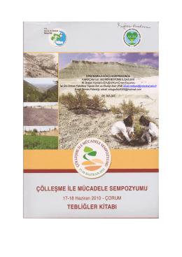 İvriz Barajı Ağaçlandırması-M.D.Kantarcı, E.Kurt, E.Koyuncu