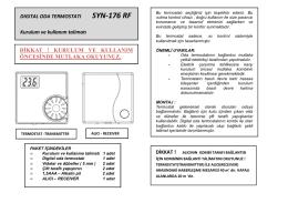 SYN-176-RF Oda Termostatı Kullanma Kılavuzu