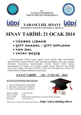Uludağ Üniversitesi Yabancı Dil Sınavı (UÜDS)