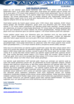 11.04.2014 CARİ İŞLEMLER DENGESİ