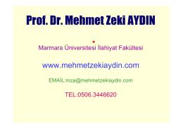 Prof. Dr. Mehmet Zeki Aydın - Din Öğretiminde Yöntemler
