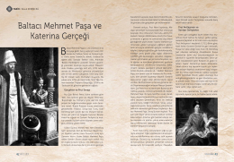 Baltacı Mehmet Paşa ve Katerina Gerçeği