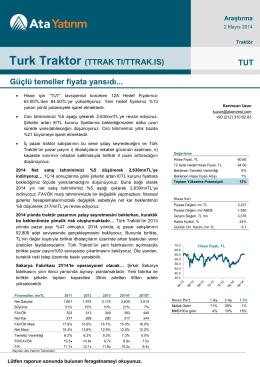 Türk Traktör - Ata Yatırım