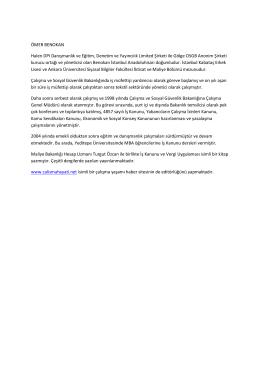 Ömer Benokan CV - DPI Danışmanlık