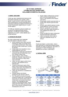 gf tc100n, exproof lpg/metan gaz dedektörü kullanım ve