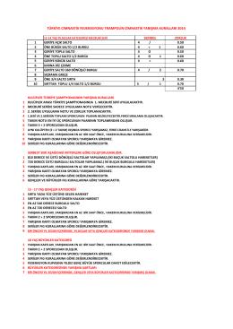 17 / 18+ Yaş Yarışma Kuralları - Türkiye Cimnastik Federasyonu