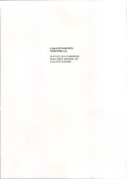 GPY 2014 Eylül Faaliyet Raporu