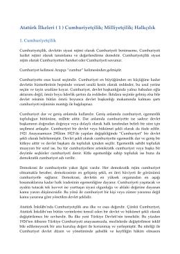 10. Atatürk İlkeleri