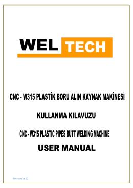 CNC W315 Kullanım Kılavuzu