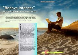 """""""Bedava internet"""", sayısal uçurum kapanır mı?"""
