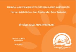 Bitkisel Gıdalar_Mehmet Gümüş - TC Gıda Tarım ve Hayvancılık