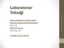 DNA Ekstraksiyonu - Adnan Menderes Üniversitesi