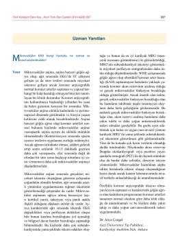 Uzman Yanıtları - Türk Kardiyoloji Derneği